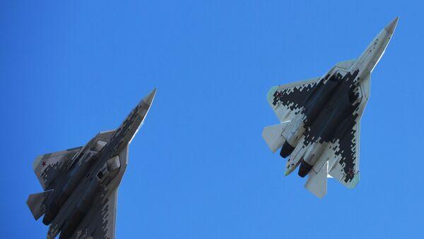 Los Su-57 - Sputnik Mundo