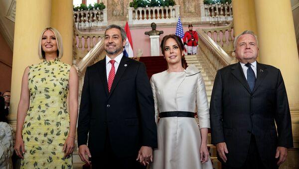 La asesora e hija del presidente EEUU, Ivanka Trump, y el presidente de Paraguay, Mario Abdo Benítez, primera dama de la nación, Silvana Abdo, el vicesecretario de Estado de EEUU, John J. Sullivan - Sputnik Mundo