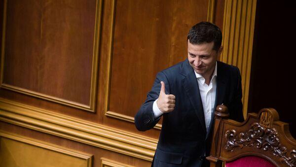 El presidente de Ucrania, Volodímir Zelenski - Sputnik Mundo
