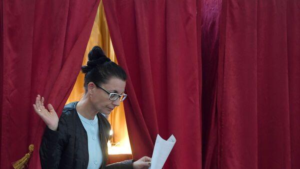 Un colegio electoral en Kazán - Sputnik Mundo