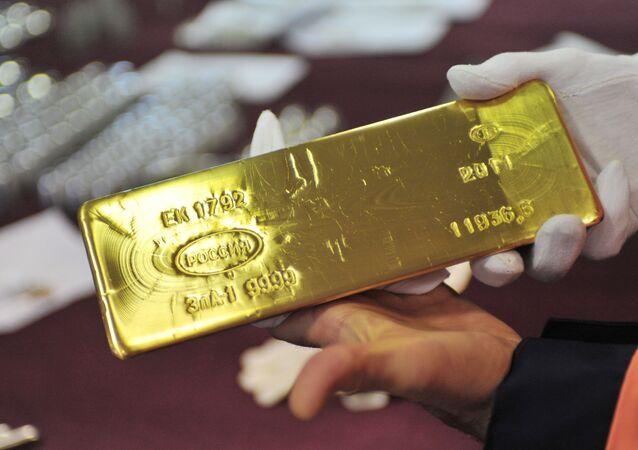 Reserva de oro de Rusia (archivo)