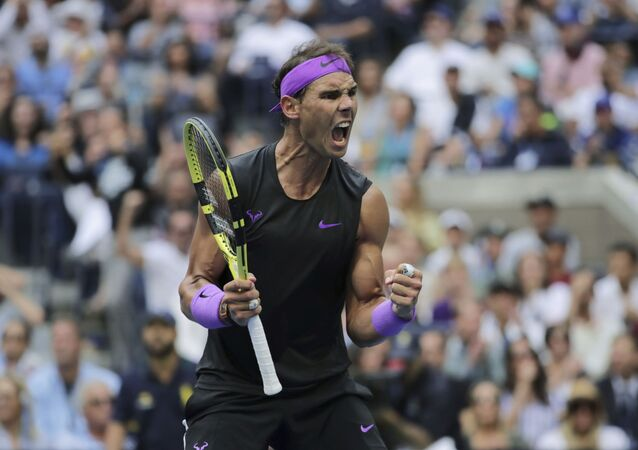 Rafael Nadal durante la final de US Open