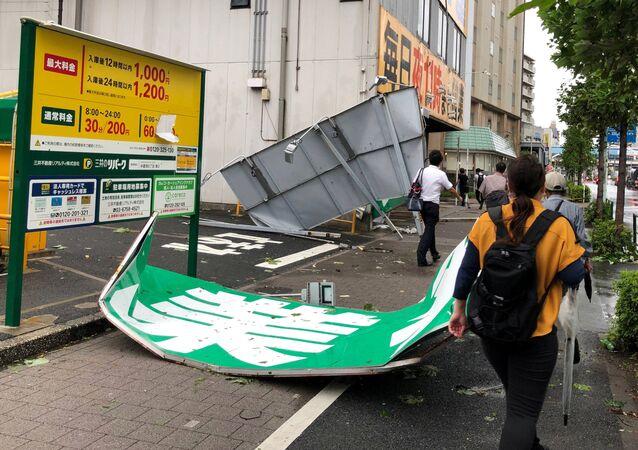 Consecuencias del tifón Faxai en Japón