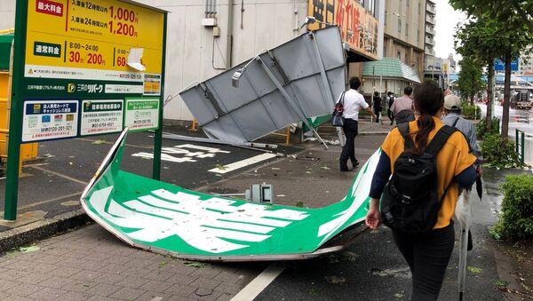 Consecuencias del tifón Faxai en Japón - Sputnik Mundo