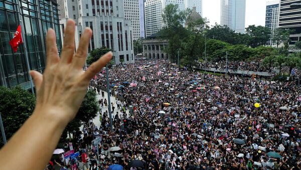 Las protestas en Hong Kong - Sputnik Mundo