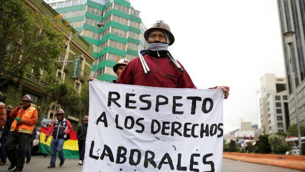 Huelga de los mineros de San Cristóbal - Sputnik Mundo