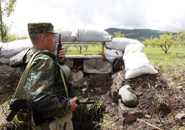 La frontera entre Osetia del Sur y Georgia (Archivo)