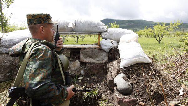 La frontera entre Osetia del Sur y Georgia (Archivo) - Sputnik Mundo