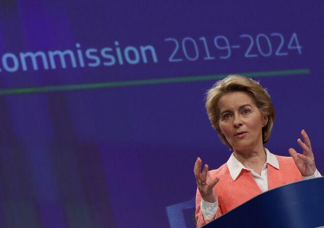 La presidenta electa de la Comisión Europea, Ursula von der Leyen