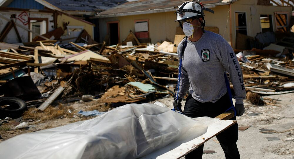 Una víctima del huracán Dorian en Bahamas