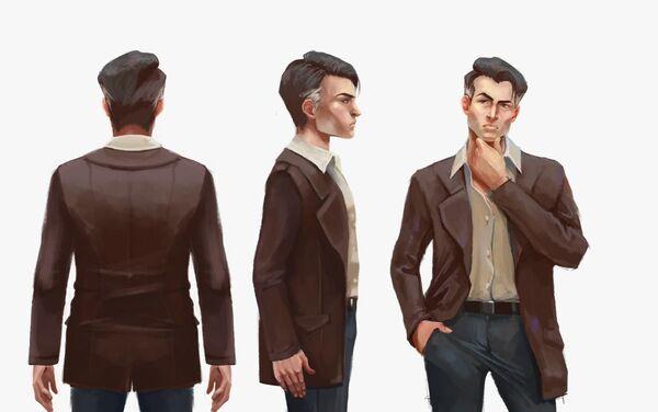 Maximiliano, uno de los protagonistas del videojuego chileno Guerras Sucias, desde distintos angulos en una de sus identidades  - Sputnik Mundo
