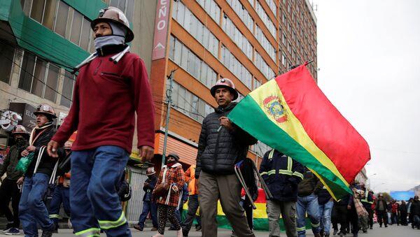 Protestas de los mineros en Bolivia - Sputnik Mundo