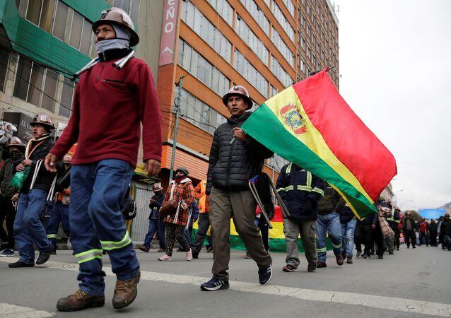 Protestas de los mineros en Bolivia