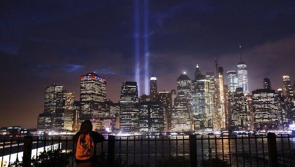 El espectáculo 'Tribute lights' de Manhattan - Sputnik Mundo