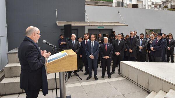 Jorge Faurie, ministro argentino de Relaciones Exteriores, durante el acto de recuerdo por el atentado del 11S en EEUU - Sputnik Mundo