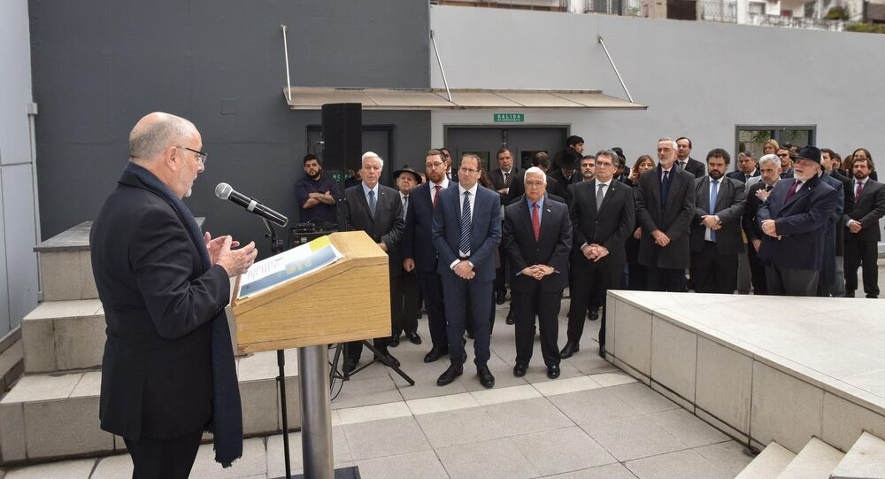 Jorge Faurie, ministro argentino de Relaciones Exteriores, durante el acto de recuerdo por el atentado del 11S en EEUU