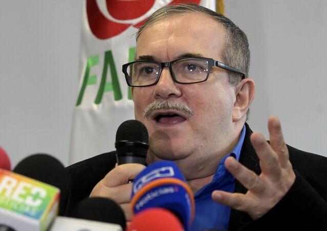 Rodrigo Londoño Echeverri, alias 'Timochenko', líder del partido político Fuerza Alternativa Revolucionaria del Común (archivo)