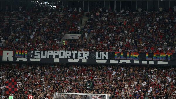 Canciones homofóbicas en el partido Niza vs. Marsella - Sputnik Mundo