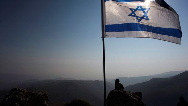 Bandera de Israel cerca del Valle del Jordán - Sputnik Mundo