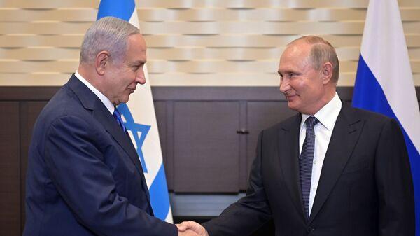 El primer ministro israelí, Benjamín Netanyahu, se reúne con el presidente ruso, Vladímir Putin, en Sochi - Sputnik Mundo
