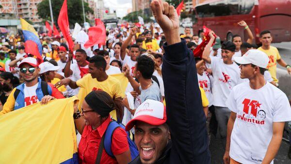 Una movilización en Caracas, Venezuela - Sputnik Mundo