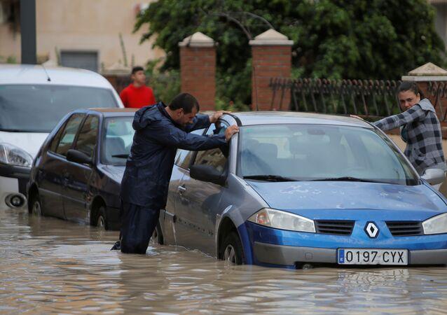 Consecuencias de las lluvias torrenciales en España