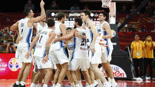 El equipo de Argentina en la final de la Copa Mundial de baloncesto de China 2019 - Sputnik Mundo