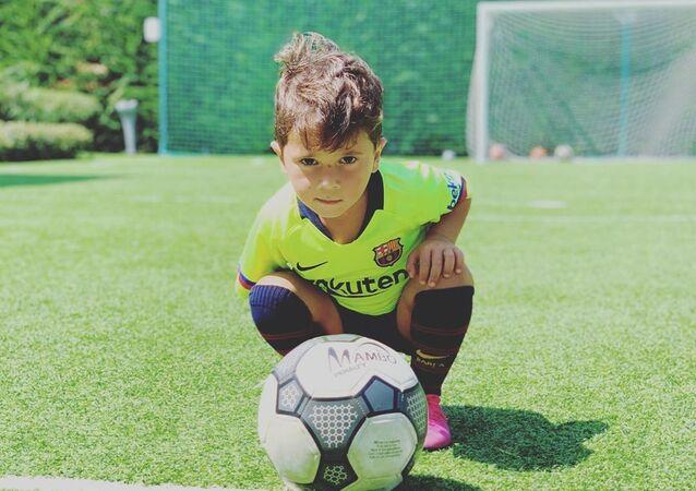 Mateo Messi, hijo de Lionel Messi