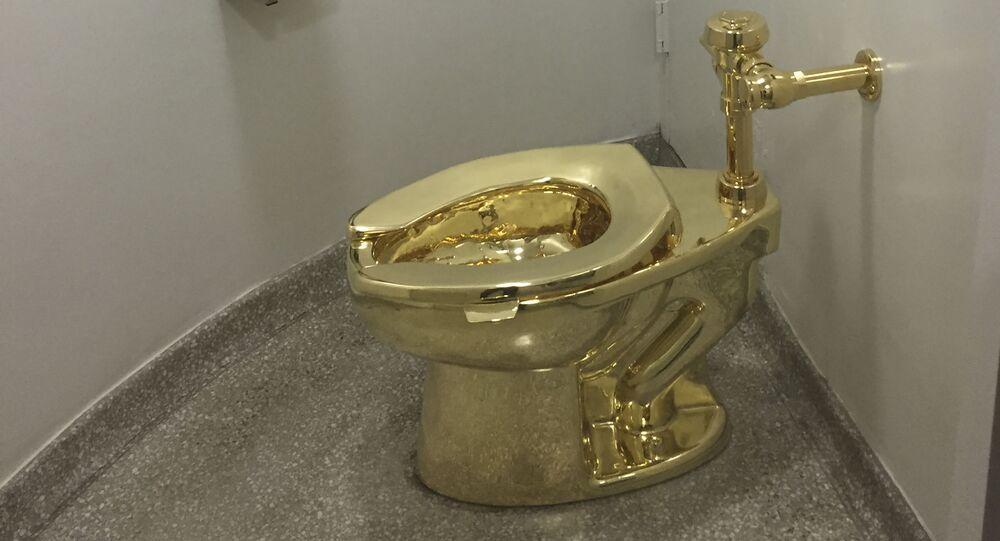 El inodoro de oro robado del palacio de Blenheim, en Reino Unido