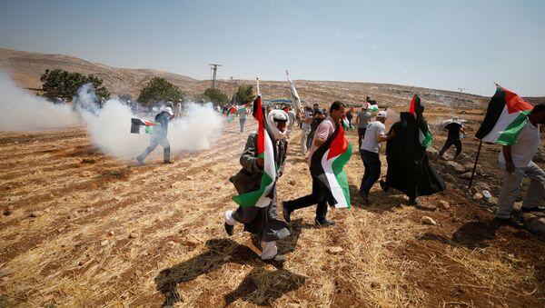 Manifestantes palestinos (Archivo) - Sputnik Mundo