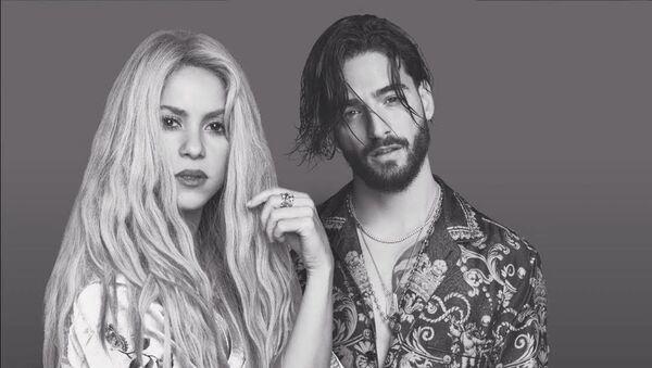 Shakira y Maluma posan para su tema 'Clandestino' - Sputnik Mundo