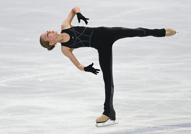 La patinadora Aleksandra Trúsova