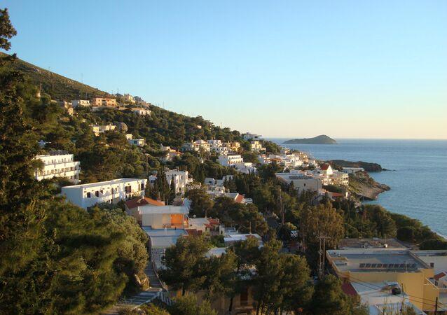 La isla Kalymnos, Grecia