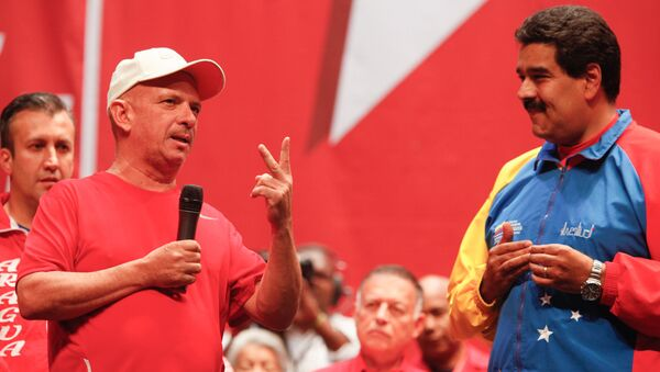 El exgeneral venezolano Hugo Carvajal junto al presidente Nicolás Maduro (archivo) - Sputnik Mundo