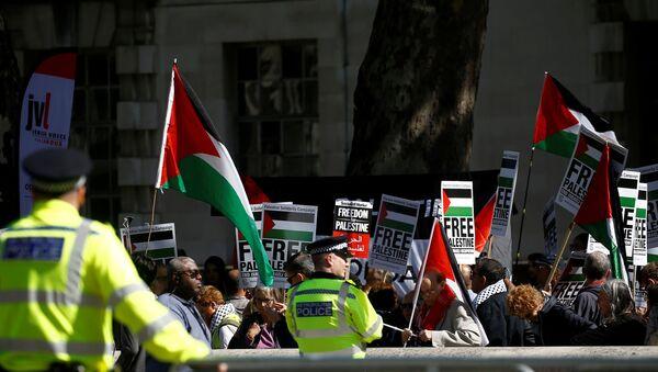 Protestas pro-palestinas en Londres - Sputnik Mundo