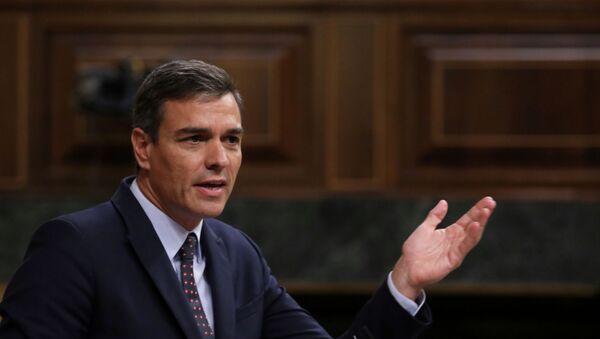 Pedro Sánchez, presidente en funciones del Gobierno español - Sputnik Mundo