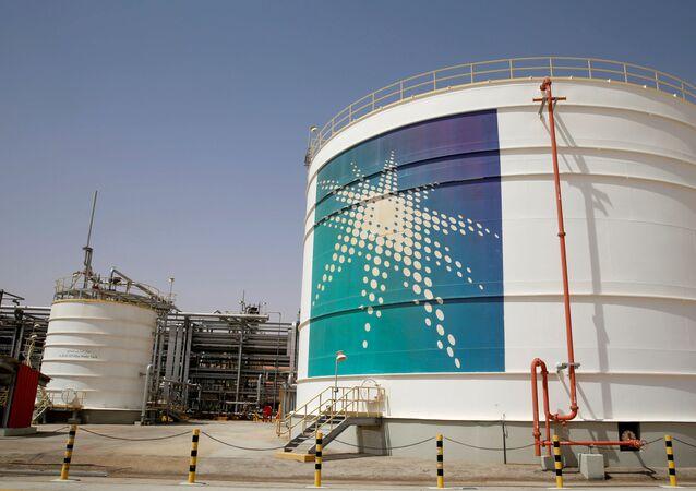 Una intalación petrolera de la empresa Saudi Aramco