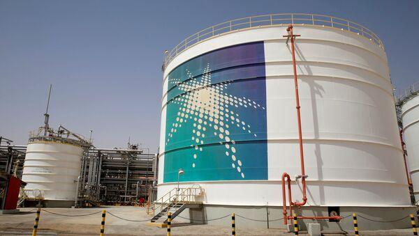 Una intalación petrolera de la empresa Saudi Aramco - Sputnik Mundo