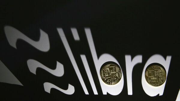 El logo de libra, la croptodivisa de Facebook - Sputnik Mundo