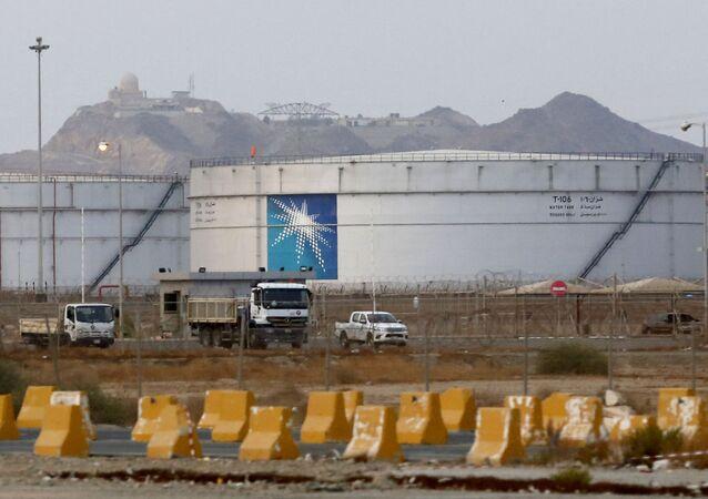 Instalación petrolera de la empresa Saudi Aramco