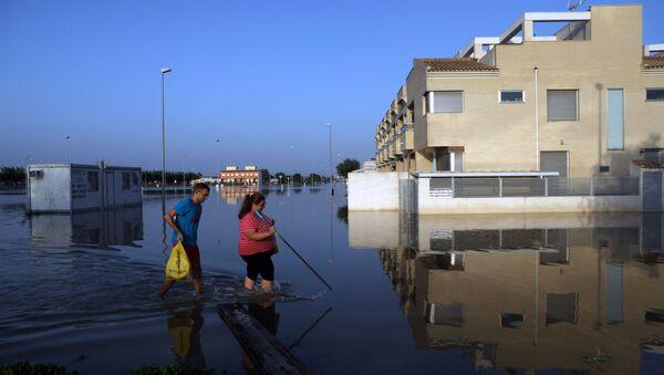 Consecuencias de las lluvias torrenciales en España - Sputnik Mundo