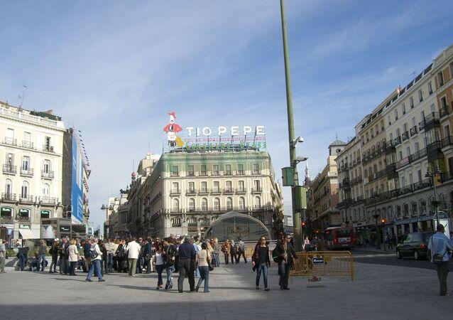 La Puerta del Sol en Madrid, España