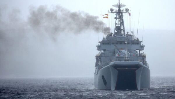 Gran buque de desembarco Kondopoga - Sputnik Mundo