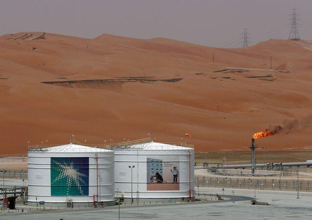 Una instalación petrolera de la empresa Saudi Aramco