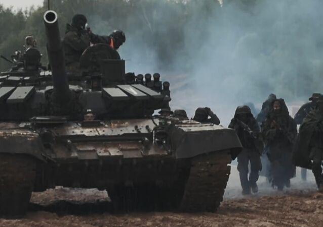 Juegos miliatres tácticos en Rusia