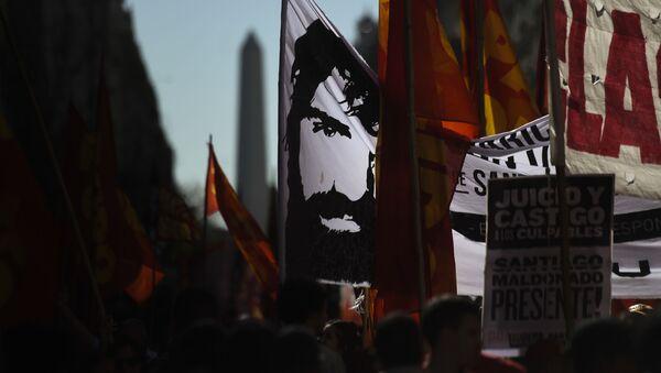 Las protestas en Chubut, Argentina - Sputnik Mundo