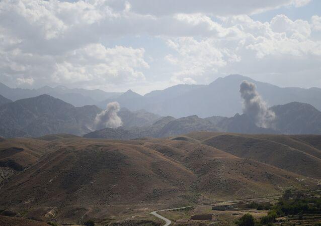 Un ataque aéreo en Afganistán (archivo)
