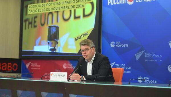 Vasili Pushkov, director del departamento de cooperación internacional de la agencia Sputnik - Sputnik Mundo