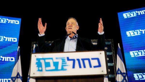 Benny Gantz, el presidente de la coalición Azul y Blanco - Sputnik Mundo