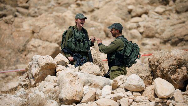 Los soldados israelíes en el Valle del Jordan - Sputnik Mundo